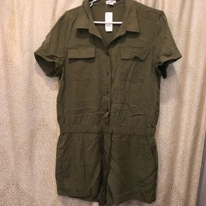 NEW! Army green romper!